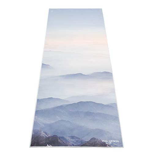 YOGA DESIGN LAB | The HOT Yoga Towel | Premium Non Slip Colorful Towel | Designed in Bali | Eco Printed + Quick Dry + Mat Sized | Ideal for Hot Yoga, Bikram, Ashtanga, Sport, Travel! (Kaivalya)