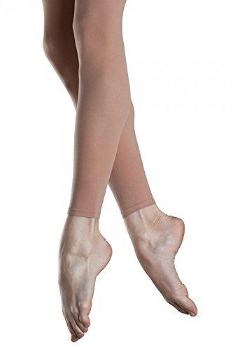 Bloch Dance Girls Endura Footless Tights,Light Tan, Child Medium by Bloch