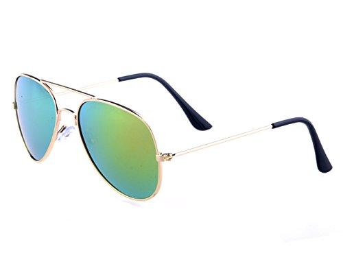 Shileded Kids Baby Sunglasses Aviator Sunglasses, Metal Frame Reflective Lenses for Childrens/Boys/Girls 3-15 Age(Pink) -