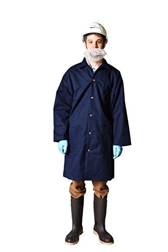 UltraSource Long Sleeve Smock/Lab Coat, Unisex, Medium, Navy ()