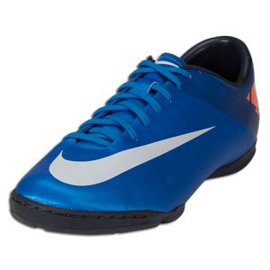 finest selection 53a17 1ce69 Amazon.com | Nike Mercurial Victory II Indoor (12) Blue/Orange | Soccer