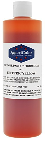 AmeriColor Food Coloring, Electric Yellow Soft Gel Paste, 13.5 Ounce