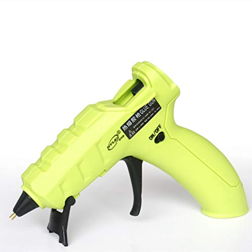(NEX&CO Cordless Glue Gun USB Rechargeable Hot Melt Glue Gun Kit with Glue Sticks, 3.6V Low Temp Portable Hot Melt Heat Gun with Built-in Lithium Battery Copper Nozzle for Crafts Sealing (Green-10W))