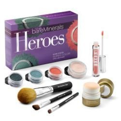 Heroes Nine Piece Super Color Collection: Mineral Veil+ RareMinerals Skin Revival Treatment+ Blush+ 2x Eye Color..... - 9pcs