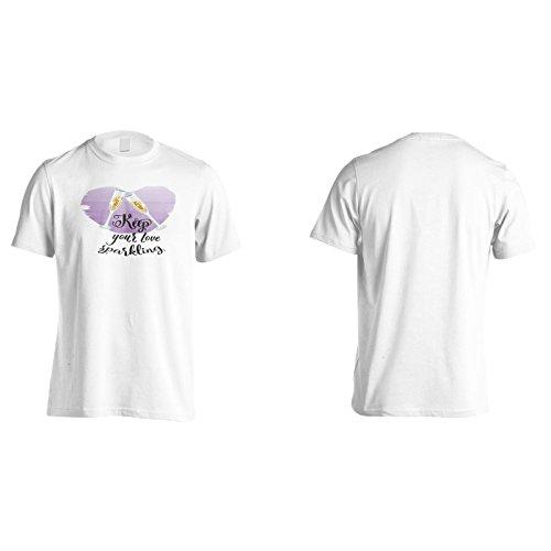 Halten Sie Ihre Liebe Funkelnd Herren T-Shirt k976m
