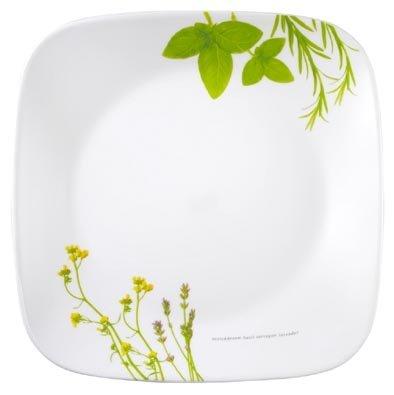 Sq Accent Plate - Corelle European Herbs Sq Plate