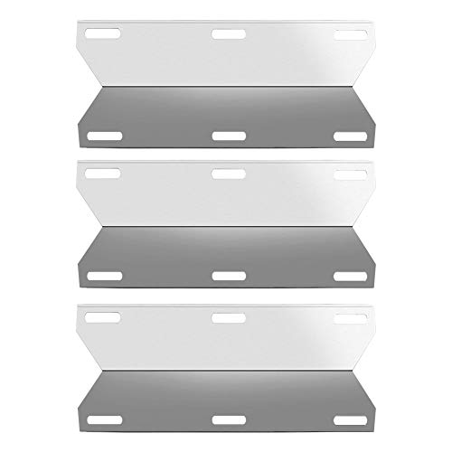 SHINESTAR Grill Replacement Parts for Jenn-Air 720-0163, Nexgrill 720-0163, 3-Pack 17 3/4 inch Stainless Steel Gas Grill Heat Plate Shield Heat Tent BBQ Burner Cover Flame Tamer(SS-HP030)