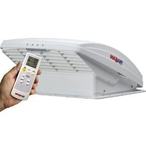 (Maxxair 0007000K MaxxFan Deluxe Fan with Remote and White Lid)