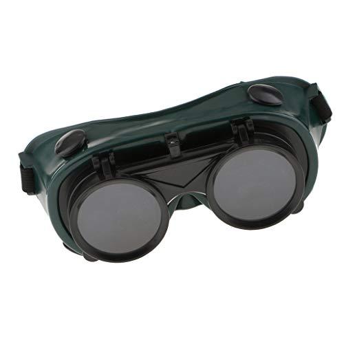 Homyl Welding Welders Safety Goggles Glasses Flip up Dark Green Lenses #6 ()