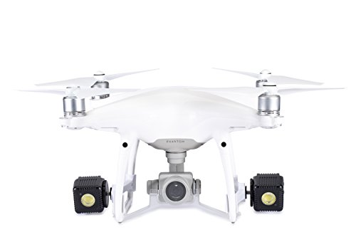 Lume Cube - Lighting Kit for DJI Phantom 4 Pro/Advanced Drone (White) (Includes 2 Lume Cubes + 2 Mounts + Zipper Case)