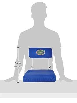 One Size Logo Brands NCAA Unisex Adult Hardback Bleachers Stadium Seat Multicolor