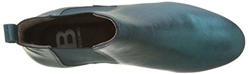 Femme Vert Chelsea Bottines Boots vert Metallise Bensimon vAqf6w0