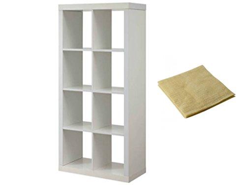 Modern Better Homes and Gardens 8-Cube Organizer in White with a Bonus Dust (Garden Curio)