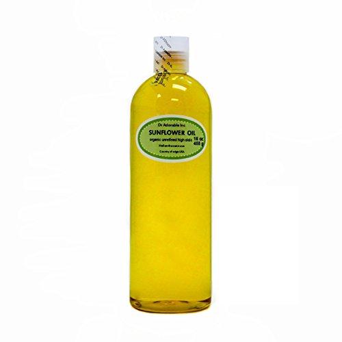 Unrefined Sunflower Oil Cold Pressed Organic 100% Pure 16 Oz/ 1 Pint