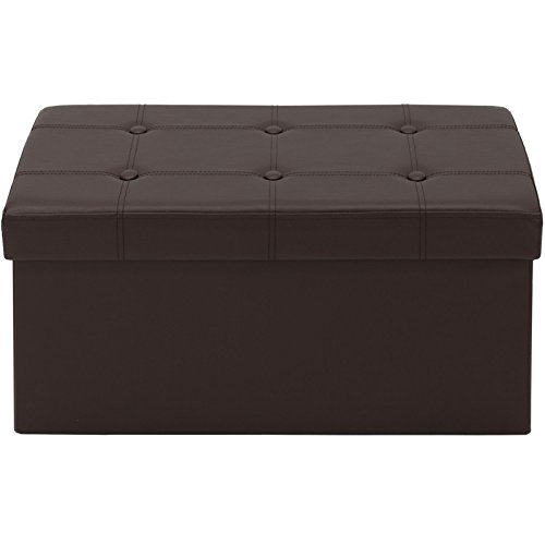 Peachy Azadx 30 Rectangle Folding Storage Ottoman Bench Faux Leather Foot Rest Seat Footstool Storage Ottoman Used For Coffee Table Seat Stool Foot Frankydiablos Diy Chair Ideas Frankydiabloscom