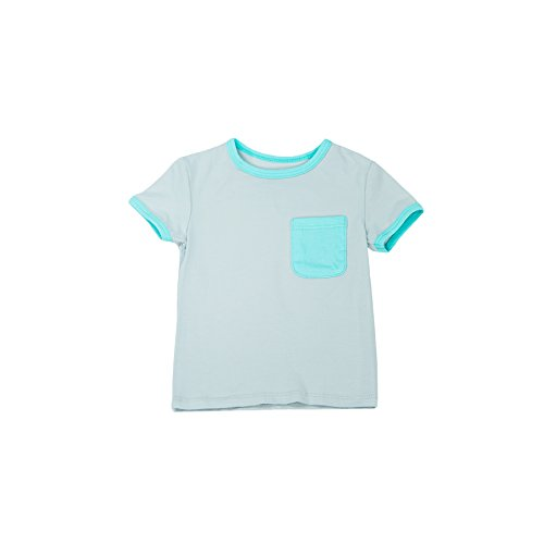 Lark Adventurewear Pocket Tee Shirt for Infants and Toddlers Grey/Aqua
