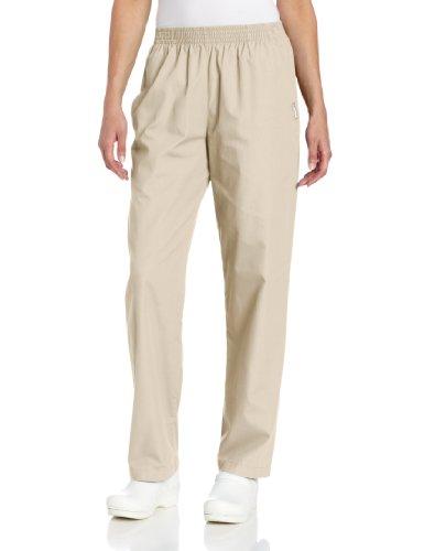Landau Women's Plus Comfortable Relaxed Fit 2-Pocket Elastic Waist Scrub Pant, Sandstone, 2X-Large Petite ()