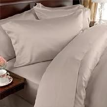 Egyptian Bedding 600 Thread Count Egyptian Cotton 600TC Sheet Set, California King, Beige Solid 600 TC