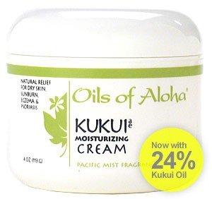 Oils of Aloha Hawaiian Kukui Moisturizing Cream (Pacific Mist) - 4 Ounces