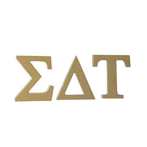 Sigma Delta Tau Sorority 7.5 Inch Unfinished Wood Letter Set