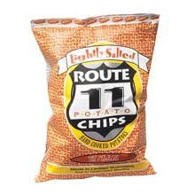 Route 11 Salted Potato Chips, Light, 2 oz, 30 ct