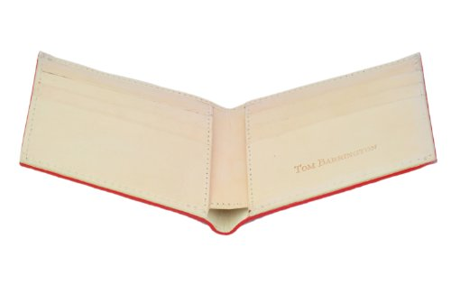 Slots Wallet Leather Card BiFold 6 Stingray Card Red slots Red 6 Credit Credit Creme UBYqU45n