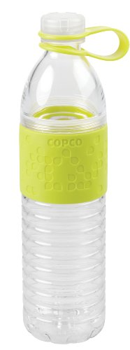 Copco 2510-2193 Hydra Reusable Tritan Water Bottle with Spill Resistant Lid and Non-Slip Sleeve, 20-Ounce, Light Green
