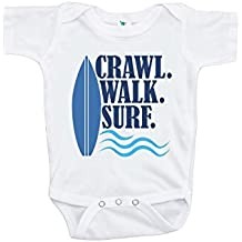 Custom Party Shop Baby Boy's Crawl Walk Surf Summer Onepiece