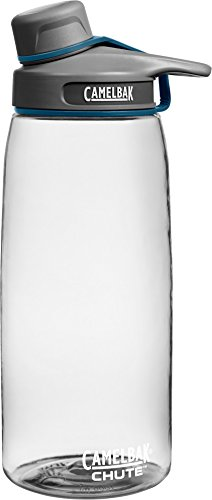 CamelBak Chute Water Bottle, 1 L, Clear