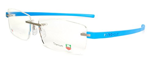 Tag Heuer TH3942 010 Reflex 3 Rimless Eyeglass Frames Pure/Azure Blue 60 - Tag Glasses Rimless