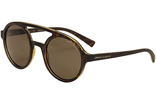 Armani Exchange AX4060S Sunglasses 821373-50 - Matte Tortoise/Topaz Shiny Frame, Brown