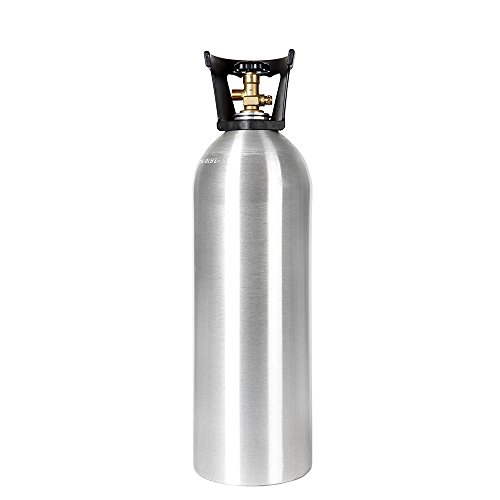 - New 20 lb Aluminum CO2 Cylinder with Handle and New CGA320 Valve