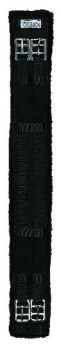 Perri's Cotton/Fleece Dressage Girth, Black, 28-Inch
