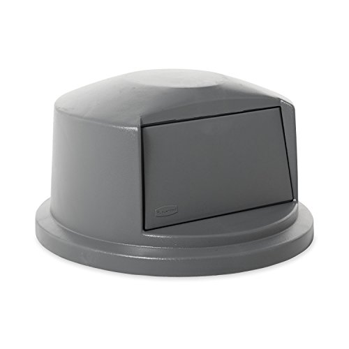 Rubbermaid Commercial Heavy-Duty BRUTE Dome Swing Top Door Lid for 32 Gallon Waste/Utility Containers, Plastic, Gray ()