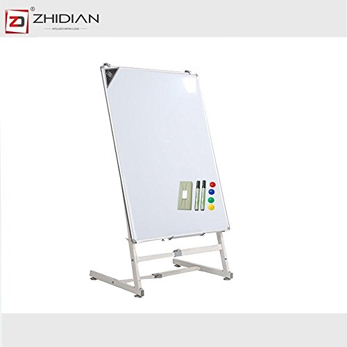 ZHIDIAN Magnetic whiteboard 48X36 Inches /2 sided Easel Style Dry Erase Boards 36x48 Inches mobile easel stand Large White Board /4 markers and 1 eraser 8 Magnets by ZHIDIAN