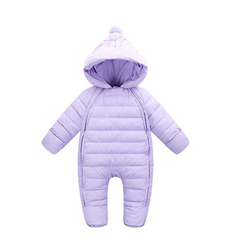Boys Snowsuit Purple Thick Fairy Girls Warm Hooded Jumpsuit Baby Winter Outwear Toddler qWPEUOPC