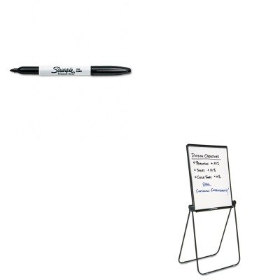KITQRT101ELSAN30001 - Value Kit - Quartet Ultima Presentation Dry Erase Easel (QRT101EL) and Sharpie Permanent Marker (SAN30001)