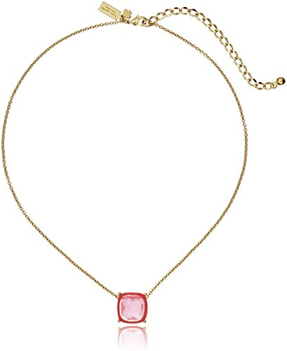 kate spade new york Cause A Stir Mini Pink Pendant Necklace 15  3 Extender