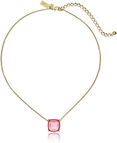 kate spade new york Cause A Stir Mini Pink Pendant Necklace 15  3 Extender