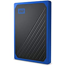 WD 500GB My Passport Go Cobalt SSD Portable External Storage - WDBY9Y5000ABT-WESN