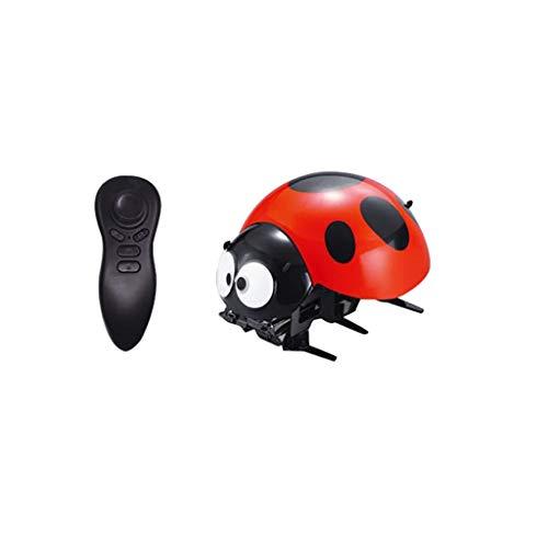 Wenini Intelligent RC Ladybug Robot Toy, DIY Intelligent 2.4GHz Wireless Remote Control Robot Toy Funny RC Prank Joke Scary Trick Toys (Red)