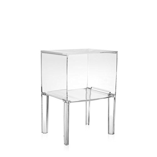 Kartell Small Ghost Buster Night Table by Philippe Starck with Eugeni Quitllet, Pack of 1, Transparent Crystal