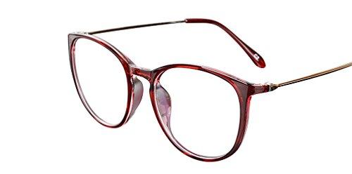 De Ding - Monture de lunettes - Femme Rouge Bordeaux