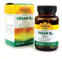 COUNTRY LIFE VITAMINS VEGAN D3,5000IU, 60 SGEL by Country Life by Country Life