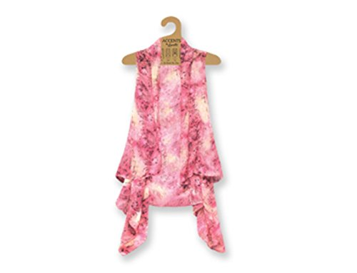 Lavello Sheer Designer Vest, Pink Paisley, One Size