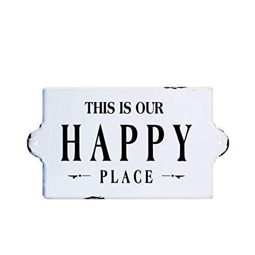 (VIPSSCI 'This Is Our Happy Place' Metal Enamel Decorative Wall)