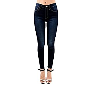 Kan Can Women's High Rise Skinny Jeans KC7254