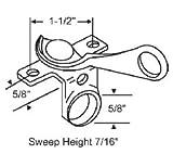 STB Sweep Lock, Bronze Casting, White Bronze, 1-1/2'' Screw Holes