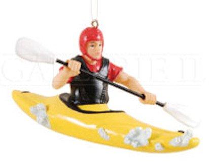 Ornament Kayaker - GALLERIE II Whitewater Kayaker Christmas Ornament