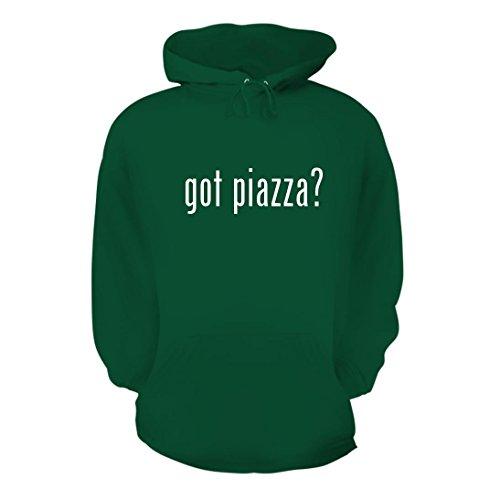 got piazza? - A Nice Men's Hoodie Hooded Sweatshirt, Green, Large (09 Torino 1 Light)